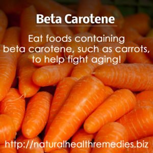 Beta Carotene – Anti Aging Benefits